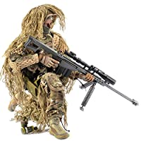 Haoun 1/6 Scale Army Military Soldier Action Figures, 12 Inch Flexible Soldiers Model Set with Accessories Model Collection Military Toys for Kids Adults - All Terrain Sniper