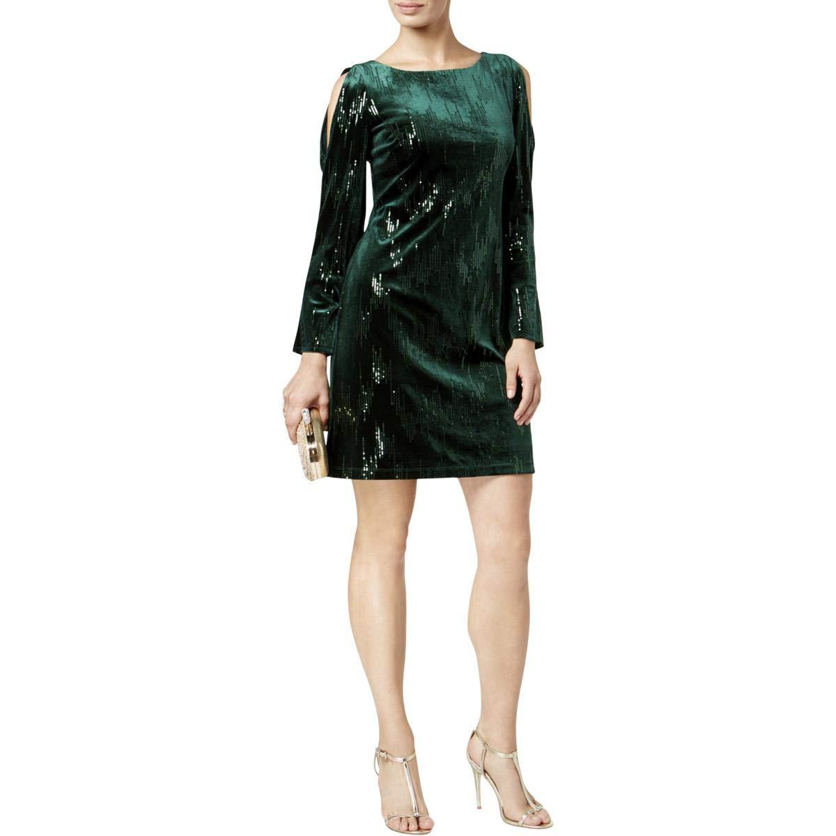 f3a7daa6c9e02 Amazon.com: Jessica Howard Womens Sequin Cold-Shoulder Sheath Dress ...