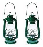 Shop4Omni S4O Hanging Hurricane Lantern/Elegant Wedding Light/Table Centerpiece Lamp - 12 Inches (2, Green)