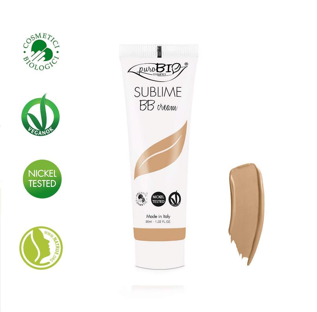 PUROBIO - BB Cream Sublime, coprenza media, effetto naturale - Tonalità 03 - Biologico, Vegan, Senza Glutine, Nickel Tested, Made in Italy Yumi Bio Shop