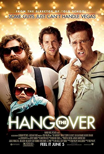 The Hangover Movie POSTER 27 x 40 Bradley Cooper, Ed Helms, A, MADE IN THE - Cooper Bradley Hangover In