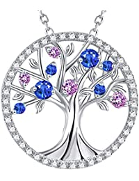 Tree of Life September Birthstone Necklace Created...