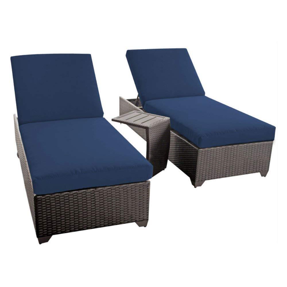 Amazon.com: Classic chaise Conjunto de 2 Mimbre al aire ...