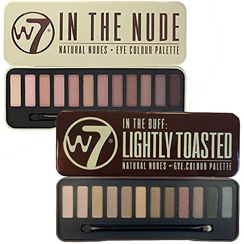 W7 In The Buff Lightly Toasted & In The Nude Eye Shadow Pale