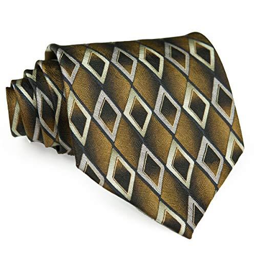 Necktie Diamond Checked 100% Silk Printed Multicolor Classical Men's Ties Unique Business Party (A036) ()