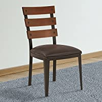 Armen Living LCSACHABES Saugus Dining Chair, Bandero Espresso