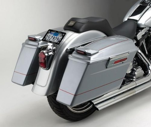 - Cycle Visions Bagger-Tail for Softail - Black Bag Mounts CV-7200A