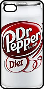 Diet Dr. Pepper Soda Can Black Rubber Case for Apple iPhone 4 or iPhone 4s