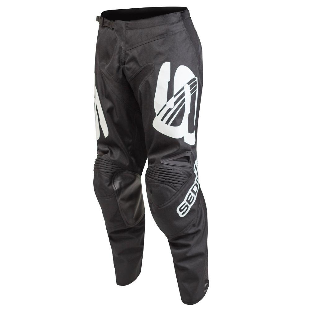 38 SEDICI Lavori Off-Road Motorcycle Pants Black//White