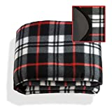 GS Home Double-Sided Plaid Stadium Picnic Blanket - Extra Large 60'' x 54'' Size