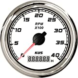 KUS Tachometer With Hour Meter 0-4000RPM 85mm With Backlight SQ Series