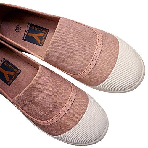 Damesschoenen Instapmodel Toevallige Flats Ademend Cap-teen Model Sneakers Roze-1020