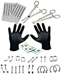 16G and 14G Body Piercing Kit 35 Pieces - Best Reviews Guide