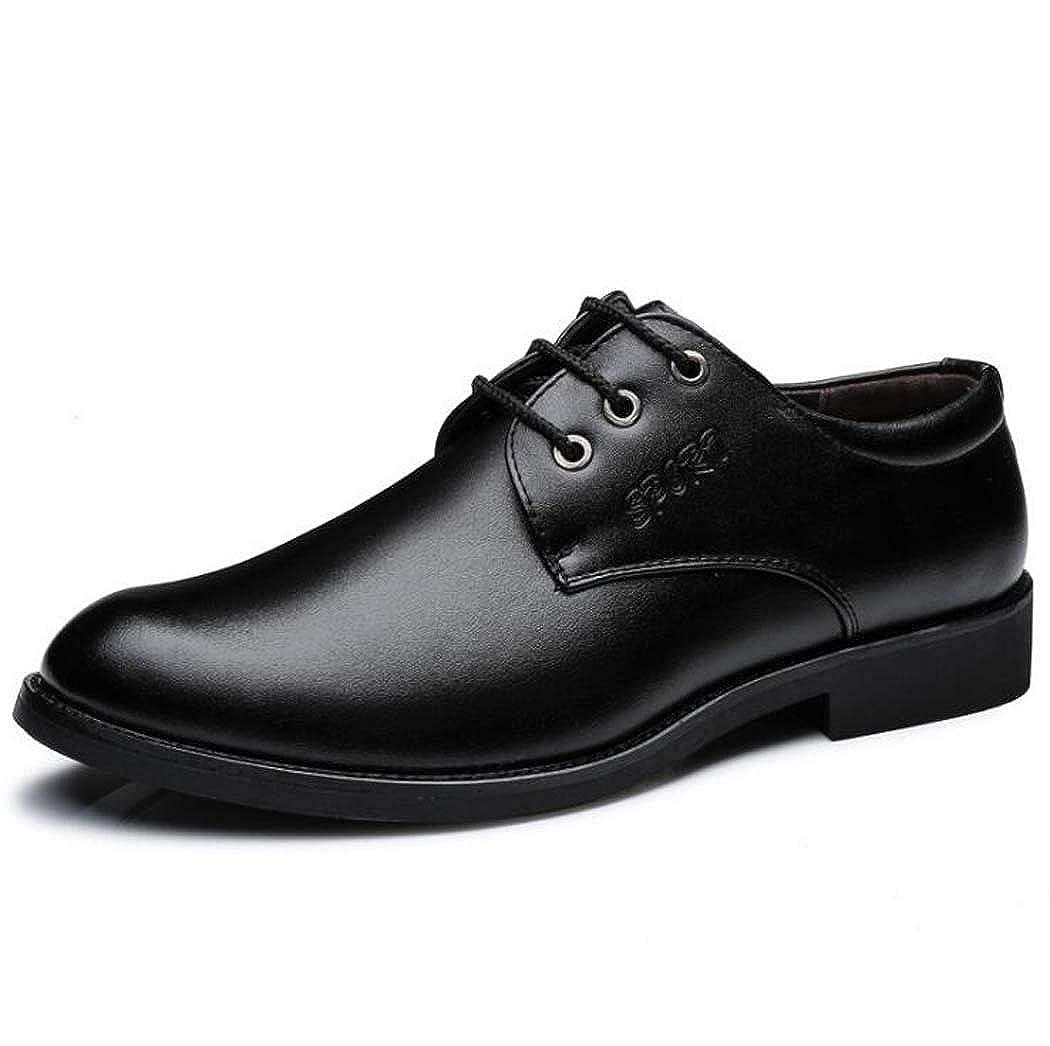 GAOPF   Herren Casual für Schnürschuhe Business Kleid Schuhe für Casual Formale Leder Schwarz be4327