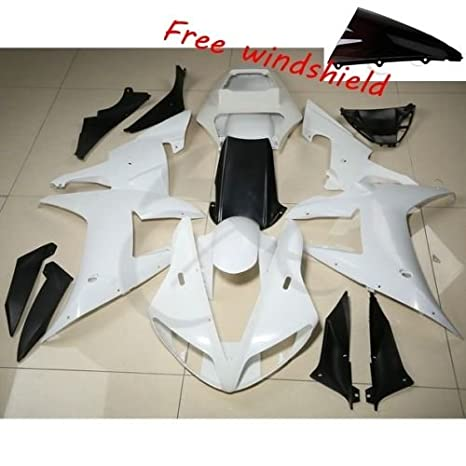 TCMT UNPAINTED ABS Fairing Cowl Bodywork Set Fits For YAMAHA YZF R6 YZF-R6 2006 2007