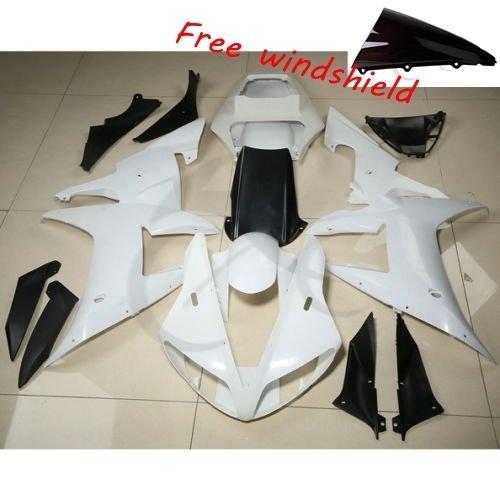 TCMT Unpainted Plastic Fairing Cowl Set Bodywork Fits For YAMAHA YZF R1 YZF-R1 2002 2003