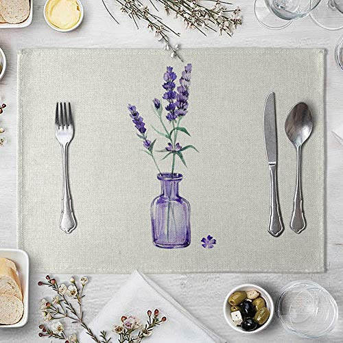 memorytime Flower Bottle Heat Insulated Pad Kitchen Dining Table Tableware Mat Placemat Kitchen Dining Supplies - 5# by memorytime (Image #8)