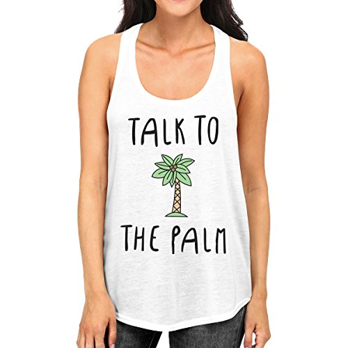 Talk 365 Pull Tank Femme White Unique Printing Sans Manche Taille Top The To Palm gSTSFxw0q