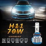 Wensltd 2pc 70W 7000LM H11 Car LED Headlight B2 Canbus 6000K Kit Fog Lamp Head Light