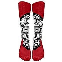 Build U Skull Head In Red Comfortable Stocking Athletic Socks