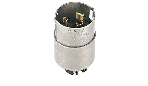 Cooper Wiring Devices CS6365 Plug 50A 125/250V 3P4W H/L ... on