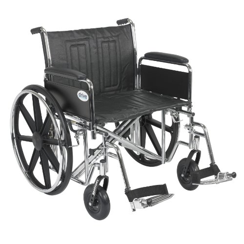 Drive-Medical-Sentra-EC-Heavy-Duty-Wheelchair-with-Various-Arm-Styles-and-Front-Rigging-Options-Black-Bariatric-24-Inch