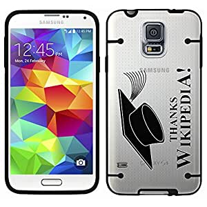 Samsung Galaxy S5 Thanks Wikipedia on Clear with Black Trim Case