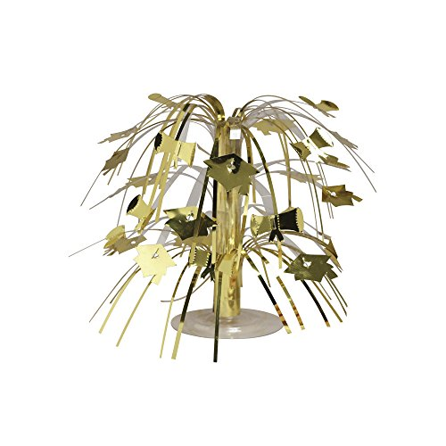 Creative Converting 12-Count Mini Cascade Graduation Centerpieces, Gold
