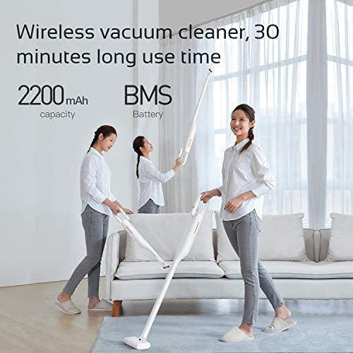 DEERMA Cordless Vacuum Cleaner, Upright Bagless Vacuum Cleaner, Powerful Lightweight Portable Handheld Stick Vacuum Cleaner with Rechargeable Lithium Ion Battery for Floor Carpet Car Pet Hair