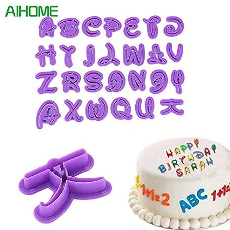 Juego de 26 moldes para fondant de Mickey Mouse, con forma de letras y letras: Amazon.es: Hogar