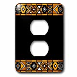 3dRose LLC lsp_76556_6 Brown and Black African Pattern  Art of Africa Inspired By Zulu Beadwork Geometric Designs  2 Plug  Outlet Cover