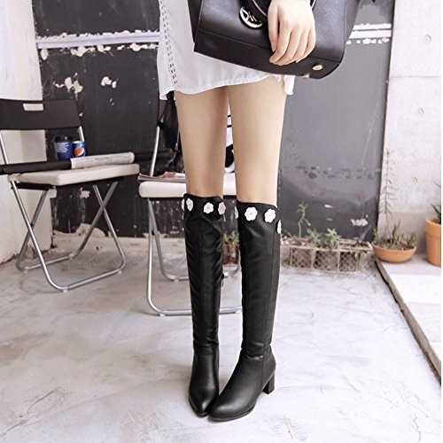Black Boots Zipper Half Women Razamaza qHwx808