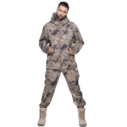 Traje de camuflaje táctico Juego de chaqueta de cuero de ...