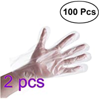 Yarnow Disposable Clear Gloves Powder Free One Time Use Gloves Nitrile Latex Hospital Gloves Oil Proof Waterproof Hand Gloves for Healthcare Medical Food Handling and More 200pcs