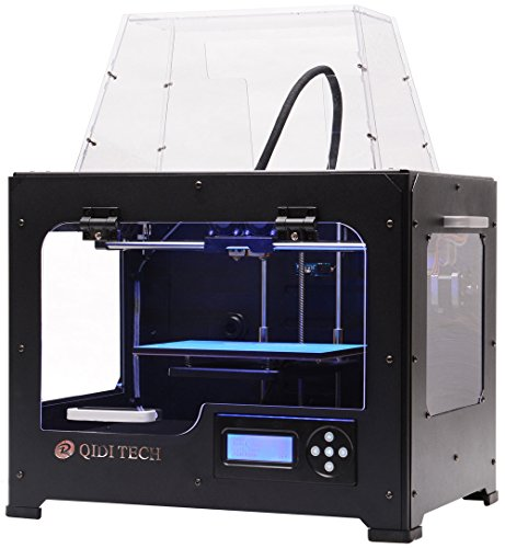 QIDI TECHNOLOGY 3DP-QDA16-01 Dual Extruder Desktop 3D Printer QIDI TECH I, Fully Metal Frame Structure, Acrylic Covers, with2 Free Filaments, Works with ABS and PLA by QIDI TECHNOLOGY