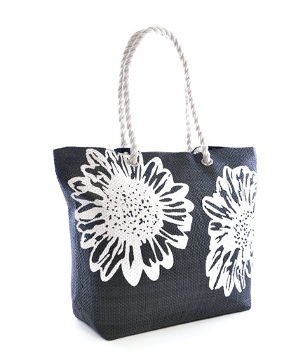 Ladies Womens Large Beach Shoulder Tote Shopping Bag Shopper Carrier Bag Flower…