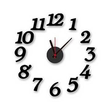 Amazoncom CHUANGLI Wall Arabic Numbers Clock Modern Design DIY