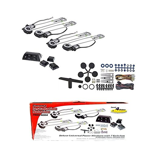 (Pipeman's Installation Solution Universal 4 Door Electric Car Truck Power Window Conversion Kit Roll Up Switches)