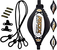 RDX Double End Speed Ball Bag Maya Hide Leather Boxing Floor to Ceiling Rope MMA Training Muay Thai Punching D