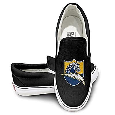 PTCY San Diego Football Team Oxford Unisex Flat Canvas Shoes Sneaker Black