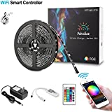 Nexlux LED Strip Lights, WiFi Wireless Smart Phone Controlled Light Strip Kit 16.4ft 150leds 5050 Waterproof IP65 LED Lights,Working with Android and iOS System,IFTTT, Google Assistant