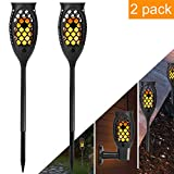 KAZOKU Solar Torch Lights 99 LED Light, Outdoor Decor Solar Garden Lights,Waterproof Dancing Flame Torch Lights, Decoration Lighting Patio,Deck,Yard,Garden,Path,Driveway (2 Pack)
