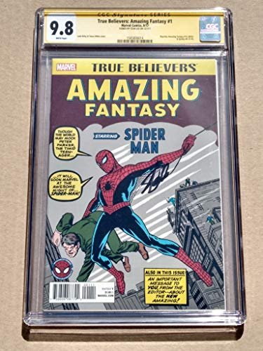 "TRUE BELIEVERS AMAZING FANTASY #1 High Grade! CGC 9.8""Spider-Man"" - Modern Age Collectible Comic Book - Signed by Stan Lee!"