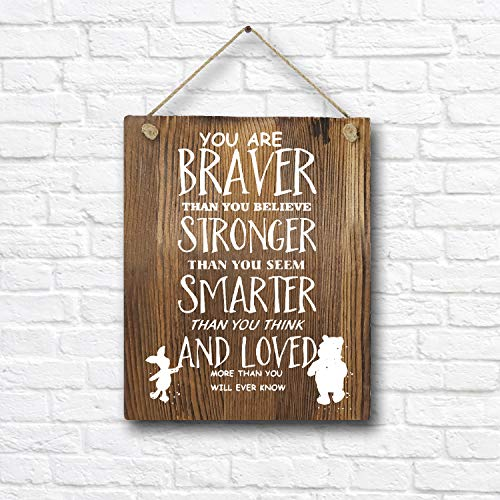 Classic Winnie The Pooh Quotes and Saying Rustic Wood Wall Art Decor- 8