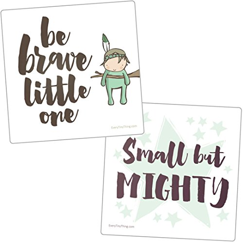Preemie Gift - NICU Crib Art from Every Tiny Thing - Decorate Your Baby's NICU Space with Adorable Prints - Brave Boys
