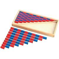 Montessori Kırmızı Mavi Çubuklar-(Küçük)