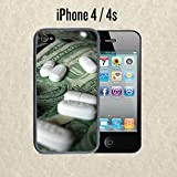 iPhone Case Money and Pills for iPhone 4 / 4s Plastic Black (Ships from CA)