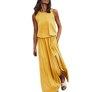 SUNNSEAN Vestidos Verano, Traje de Vestir Largo Vestido de ...