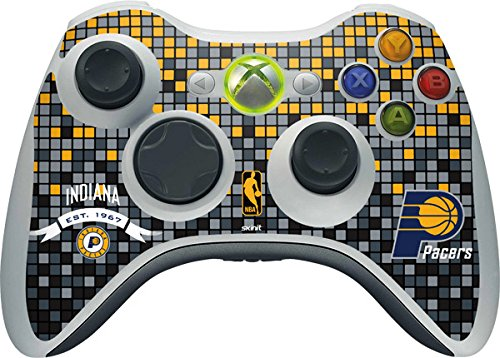 NBA Indiana Pacers Xbox 360 Wireless Controller Skin - Indiana Pacers Digi Vinyl Decal Skin For Your Xbox 360 Wireless Controller by Skinit