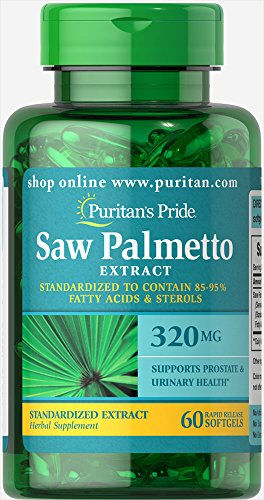 Puritan's Pride Saw Palmetto Standardized Extract 320 mg-60 Softgels